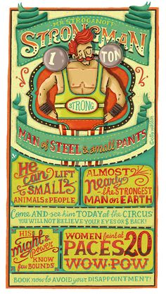 Strongman: Hand-lettering poster