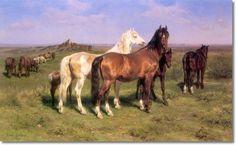 rosa bonheur paintings - Wild Horses on the Open Plains 1890