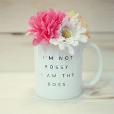 """Popular Coffee Mug - inspired by Beyoncé quote """"I'm Not Bossy, I Am the Boss"""" - 100% brand new - One mug cup (not a set) -Item Size: 3.75""""(95mm) height x 3.23""""(83mm) diameter -Microwave and top rack D"""