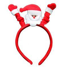 Raised hands Santa Claus / Christmas Headband Wedding Decoration Christmas Party Supplies Adult Children Headdress Free Shipping