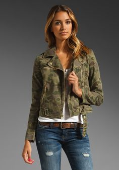 i need a men's version, of course. |  CURRENT/ELLIOTT The Easy Biker Jacket in Army Camo