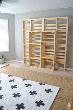 "DIY ""floating"" Platform King Bed - this bed gives the illusion that it's floating but is fully supported below. Get the free build plans. #woodworking #build #bed #kingbed #diy"