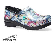 Dansko Professional Abstract Patent Leather Nursing Clog Style # DANSKABP  #uniformadvantage #uascrubs #shoes #nursingshoes