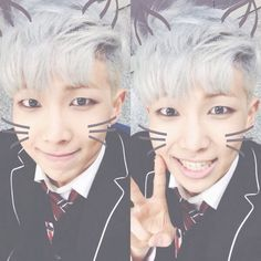 -Rap Monster- Cat ears  (ノ◕ヮ◕)ノ*:・゚✧