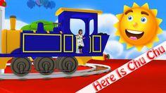 Here Is A Choo Choo Train | kids Rhymes Youtube | 3D Nursery Rhymes