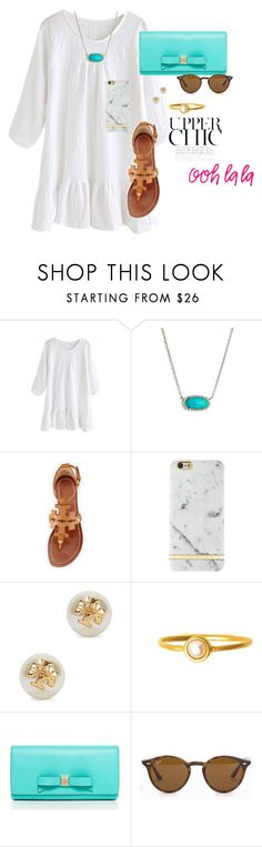 """""""Untitled #77"""" by jujuem ❤ liked on Polyvore featuring Kendra Scott, Tory Burch, Kate Spade, Ray-Ban, women's clothing, women, female, woman, misses and juniors"""