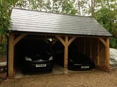 Carport should be similar to this but with metal roof, same style as main house. Add stone shop to far end and greenhouse/electrical-pump house.