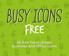 Busy Icons Free – 36 hand drawn business icons