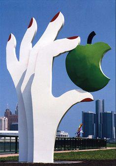 Eve's Apple by Edwina Sandys, Odette Sculpture Park, Windsor, Ontario, Canada