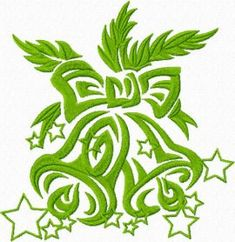 Christmas Bells free machine embroidery design. Machine embroidery design. www.embroideres.com