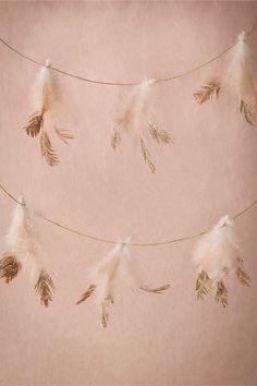 Dipped Feather Garland from BHLDN