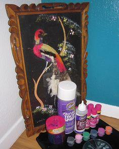 Black Velvet Painting the Epitome of Kitsch Decor Jennifer Perkins Velvet Painting, Diy Painting, Diy Arts And Crafts, Diy Crafts, Kitsch Decor, Life Paint, Scary Clowns, Art Techniques, Black Velvet