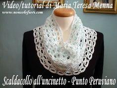 Scaldacollo all'uncinetto - Punto Peruviano - Broomstick lace
