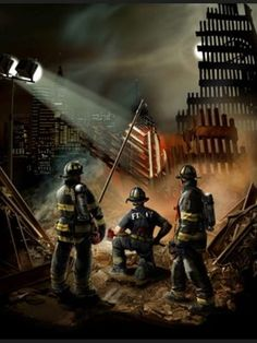 FDNY 911 Memorial Painting Never forget 11 September 2001, Remembering September 11th, World Trade Center, Cleveland, Firefighter Pictures, Firefighter Decor, Volunteer Firefighter, Patriotic Pictures, New York