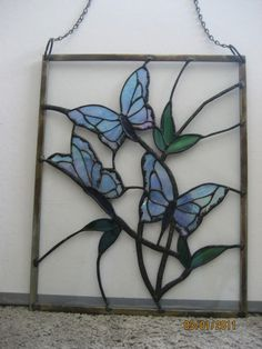 Items similar to Stained Glass Butterfly Panel on Etsy