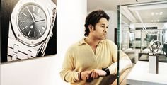 Audemars Piguet brand ambassador Sachin Tendulkar during his two day visit to the Manufacture in Le Brassus