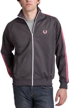 Fred Perry Men`s Track Jacket in Slate $90.00
