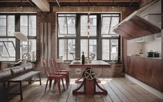 LET'S STAY: Cool Industrial Loft Design