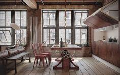 LET'S STAY: Cool Industrial Loft Design