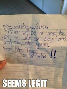 A Letter From The Teacher // tags: funny pictures - funny photos - funny images - funny pics - funny quotes - #lol #humor #funnypictures