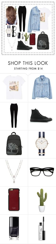 """""""Untitled #48"""" by lailaniii ❤ liked on Polyvore featuring MANGO, EAST, Converse, Timberland, Daniel Wellington, ZeroUV, Vianel, Chanel and MAC Cosmetics"""