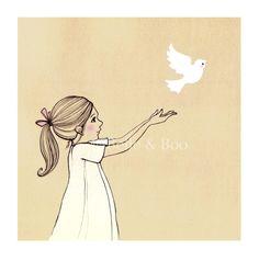 Blackbird ... ehm ... white bird, fly - into the light of the dark, black night ...