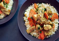 Moroccan Chicken Stew with Artichoke Hearts and Carrots - Bon Appétit  This is going into heavy rotation!