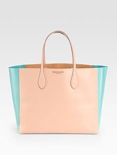 Don't you just fall in love with Rochas's tote soft hues?