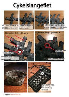 Fietsbandpatroon maken (misschien gebruiken voor armband?)
