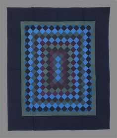 Philadelphia Pavement quilt, University of Alberta collection Amish Quilt Patterns, Amish Quilts, Easy Quilts, Antique Quilts, Vintage Quilts, Or Antique, Quilting Projects, Quilting Designs, Optical Illusion Quilts