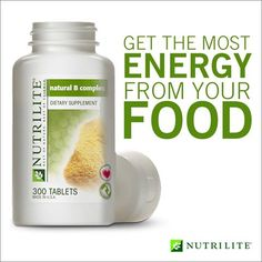 Get the most energy from your food with Nutrilite Vitamin B Complex: