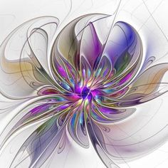 Energetic, Abstract And Colorful Fractal Art Flower Wall Tapestry by gabiw Art - Small: x Fractal Design, Fractal Art, Flower Shower Curtain, Shower Curtains, Flower Graphic, Unique Flowers, Beautiful Flowers, Flower Wall, Wall Tapestry