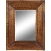 """Found it at Wayfair - Cooper Classics Canon Mirror in Distressed Natural Rustic Wood ~ Transitional ~ 35.5 H x 27.5"""" W"""