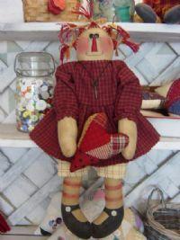 My Raggedy Heart Primitive Annie Doll Pattern 22 Americana Crafts, Ann Doll, Raggedy Ann, Small Quilts, Doll Patterns, Annie, Primitive, Free Pattern, Rag Dolls
