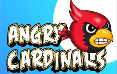 """My younger sister Karla's drawing of Angry Cardinals from the """"Angry Birds"""" game"""