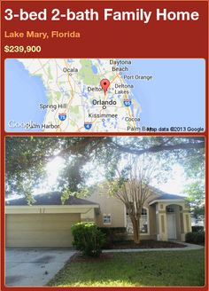 3-bed 2-bath Family Home in Lake Mary, Florida ►$239,900 #PropertyForSale #RealEstate #Florida http://florida-magic.com/properties/92622-family-home-for-sale-in-lake-mary-florida-with-3-bedroom-2-bathroom