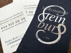 """Corporate Design and Logo for Restaurant """"seerestaurant steinburg"""" • Design by L'ALTRO  http://l.altro.ch/seerestaurant-steinburg"""