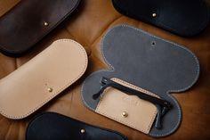 Handmade veg-tan leather glasses cases for 👓