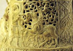 A man fighting against a winged unicorn This cap of a 13th century Iraqi storage pitcher shows a horseman slaying a charging Unicorn (carcadann)| by petrus.agricola