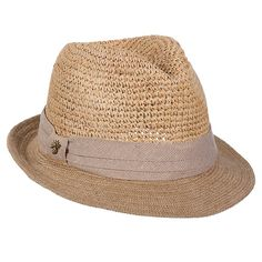 Tommy Bahama Women's Crocheted Raffia Hat OS, Natural