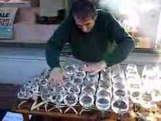 """""""Ode to Joy"""" played on wine glasses - I LOVE this!"""