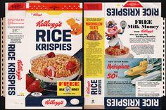 Kellogg's Rice Krispies cereal box - Free Milk Money - 1967 by JasonLiebig, via Flickr