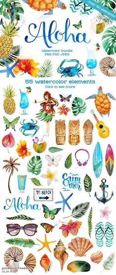 Ideas for flowers doodles hawaiian Freundin Tattoos, Drawn Art, Tropical Art, Watercolor Paintings, Watercolour, Painting & Drawing, Hand Lettering, Art Projects, Diy And Crafts