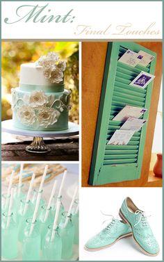 Wedding Colors: Mint Green « « The Art of Weddings.
