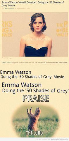 emma watson doing the 50 shades of grey movie