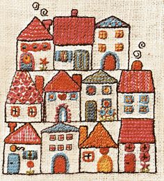 house embroidery from the book Easy Embroidery by Lis Paludan http://www.amazon.com/gp/product/0263059928/ref=as_li_tf_tl?ie=UTF8=1789=9325=0263059928=as2=liberalsprink-20