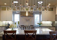 Love the lights!! Manchester Kitchen - transitional - Kitchen - San Francisco - Amarant Design and Build Center