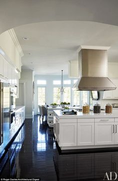 Her kitchen: 31-year-old Khloé paid $7.2M for the 10K-square-foot, six-bedroom Mediterrane...