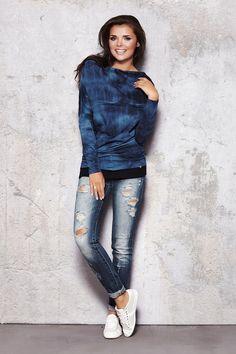 Bluza Damska Model M018 Blue Infinite You  Zapraszam na www.margery,pl