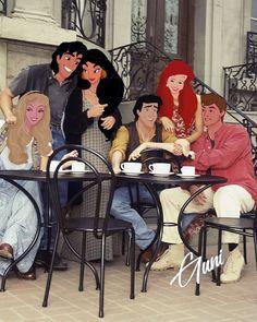 Disney cartoon is real life - Part 5 – Onnixnova Disney Princess Fashion, Disney Princess Drawings, Disney Princess Art, Disney Princess Pictures, Disney Pictures, Disney Drawings, Humour Disney, Disney Cartoons, Disney Couples